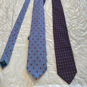 ANDREW's Ties. Made in Italy; 1 x Purple 1 x Blue